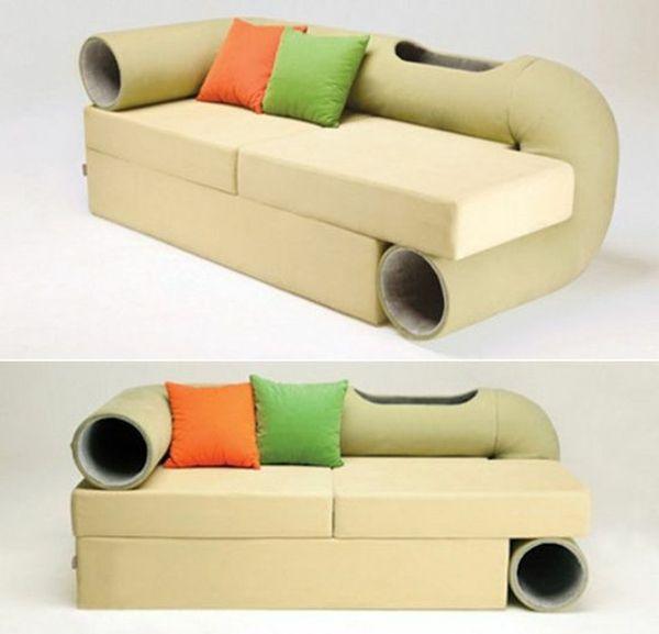 Katzenmöbel design katzenmöbel in the box sofa mit röhren katzenmöbel