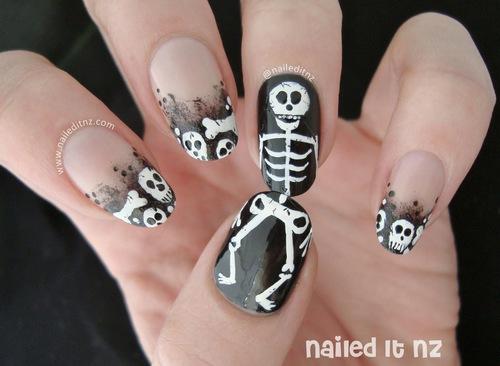 Nailed It Nz Skeleton Nail Art Face Paint Plus Famous Nails
