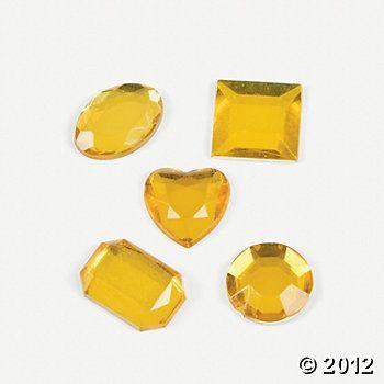 Adhesive Jewels - Yellow