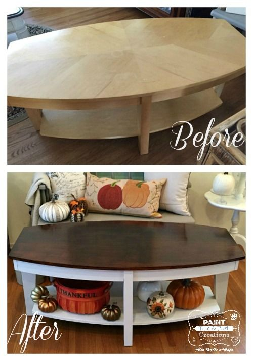 Love This Stained Top Coffee Table With Fusion Mineral Paint