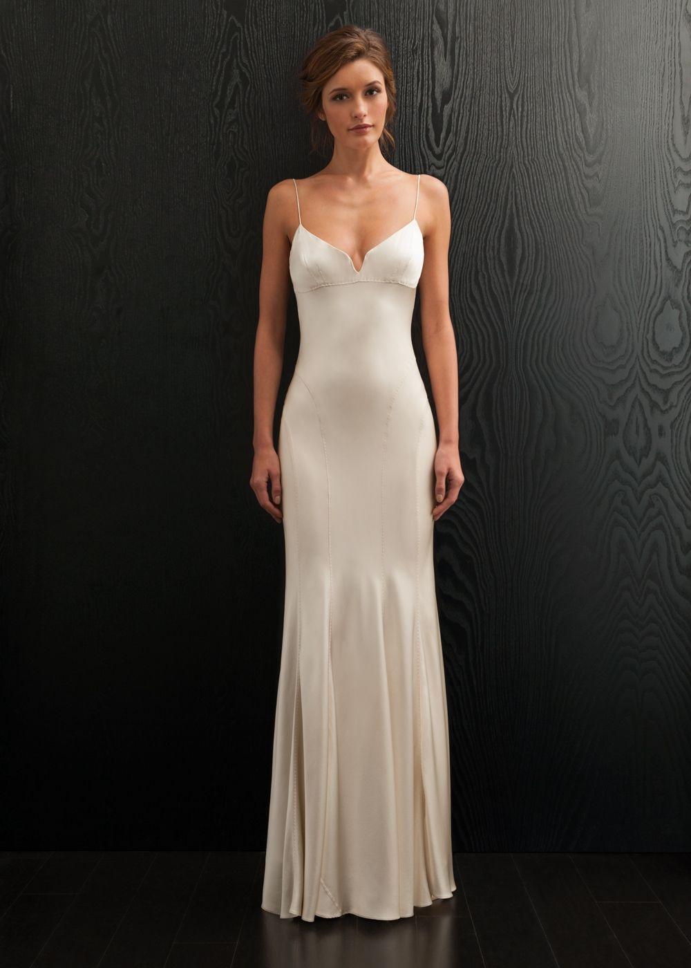 Simple silk wedding dresses  simple biascut silk dress  You must have JavaScript enabled in