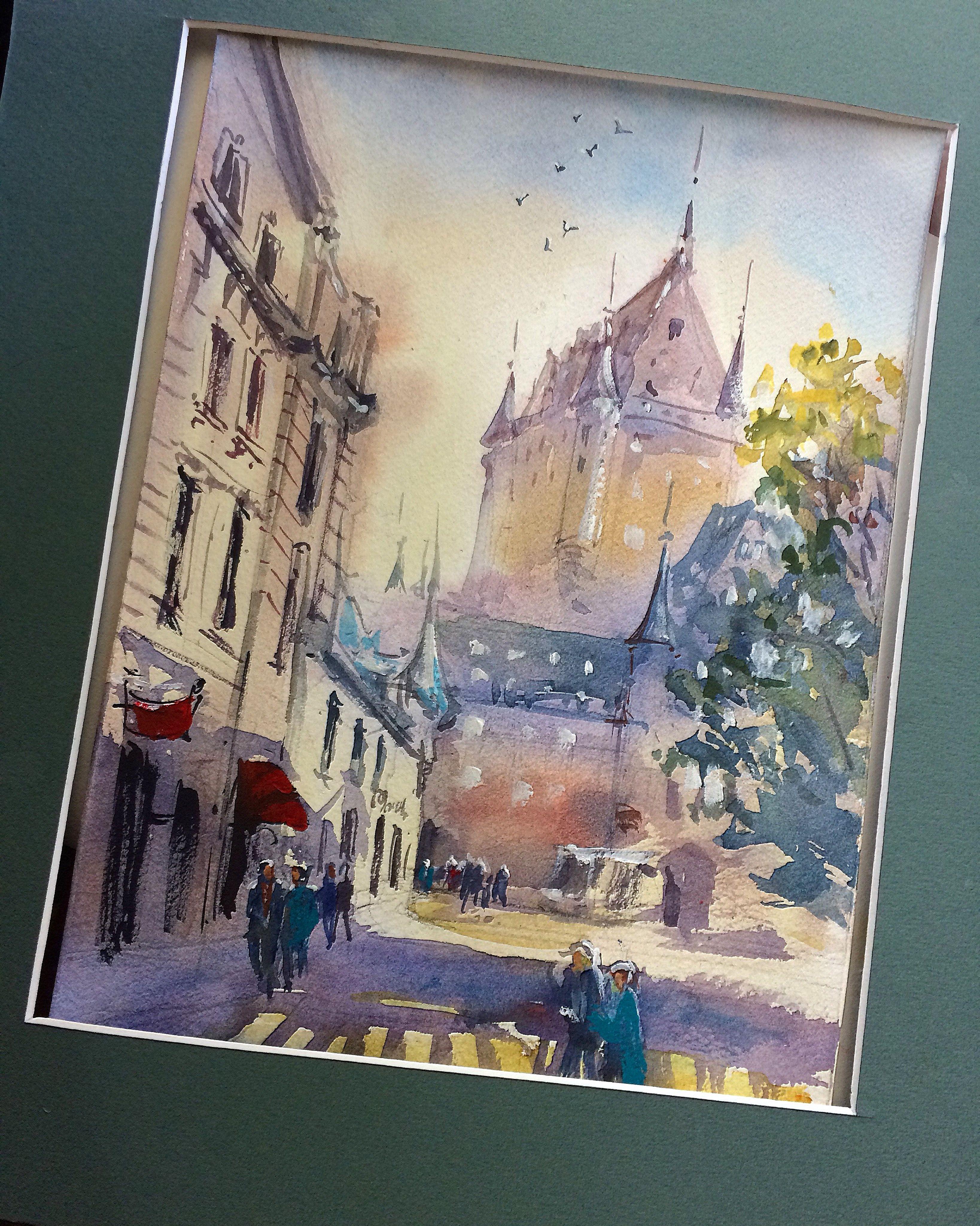 Hanna Zahorna Watercolour Painting Of Quebec City 2017