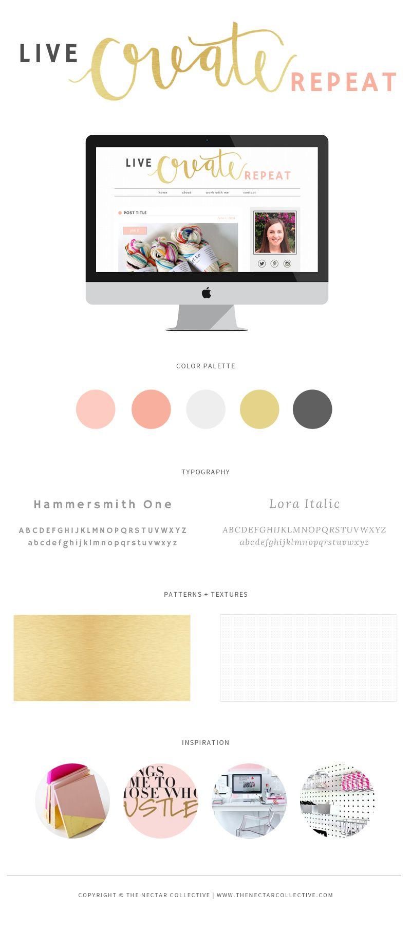 Live Create Repeat Branding Blog Design Melyssa Griffin Blog Design Blog Branding Website Branding