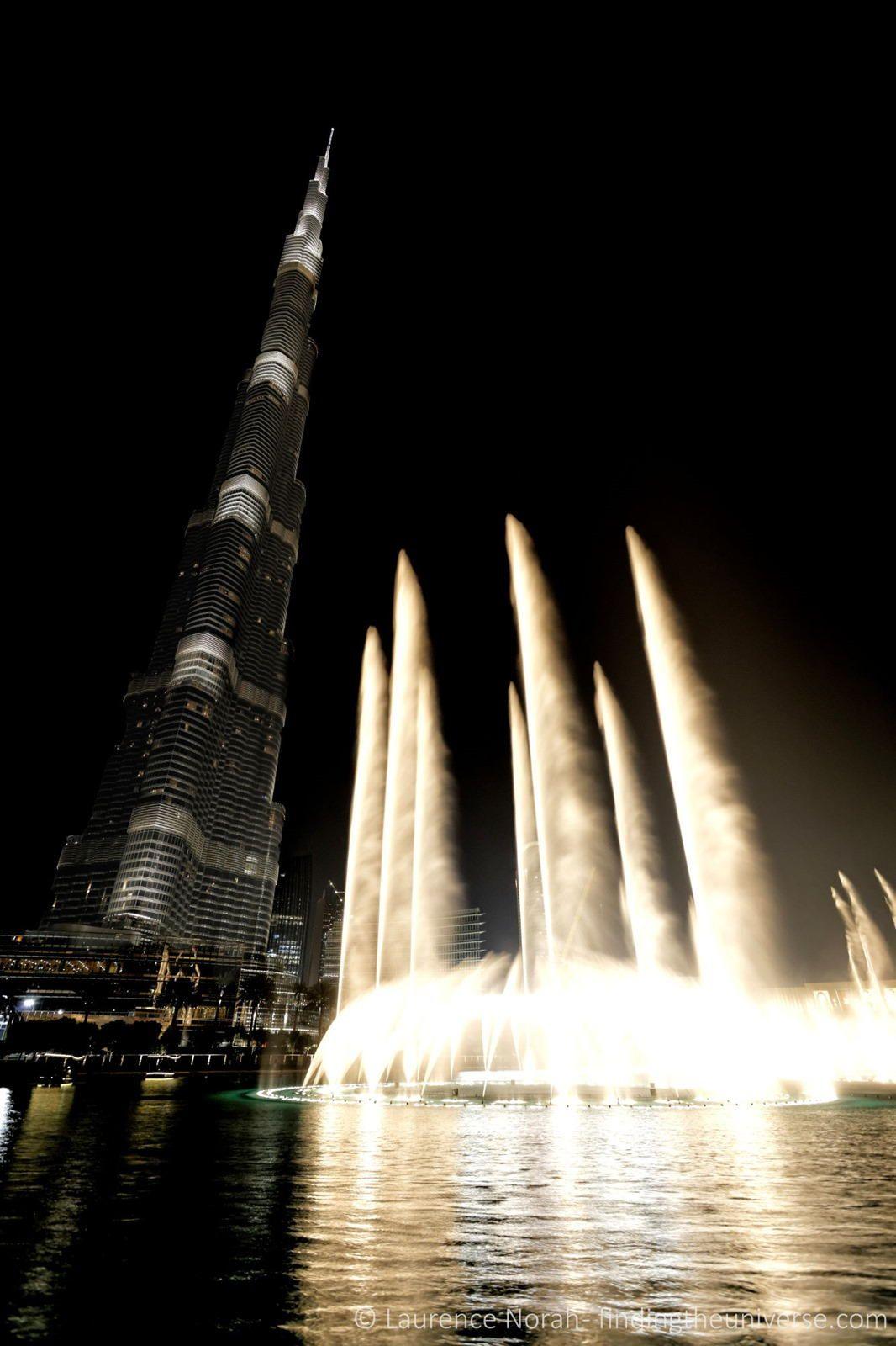 Burj Khalifa, the world's tallest man made structure (830m) in Dubai