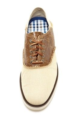 Sperry   Oxford Lace-Up Saddle Shoe
