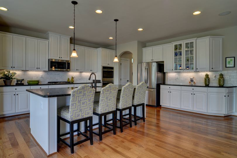 Ryan homes avalon kitchen white with green accents the for Avalon kitchen cabinets