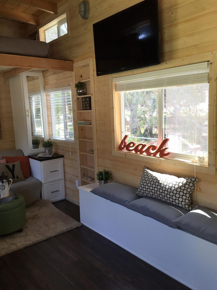 Tiny houses on wheels for sale california - A Tiny House On Wheels With A Total Of 270 Square Feet Including Loft
