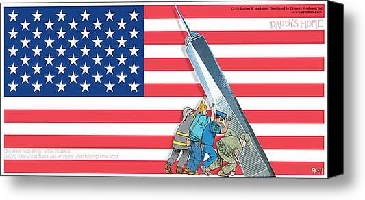 Daddys Home 9/11 Tribute Stretched Canvas Print / Canvas Art By Tony Rubino