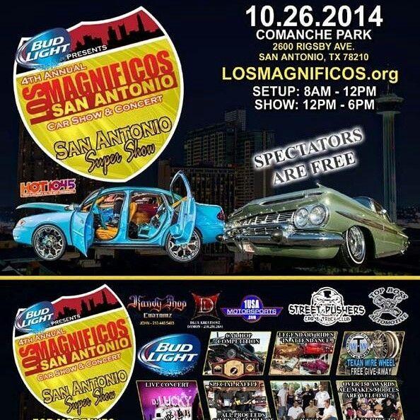 Meet Us At The Los Magnificos Car Show Today At Comache Park In San - Car show in san antonio tx