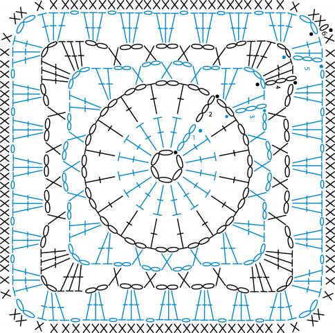 Еще квадраты крючком | tamborējumi | Pinterest | Quadratische muster ...