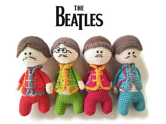 Amigurumi Dolls Set Es Sargent Pappers Of Fourmusica Beatles 2EIYWH9D