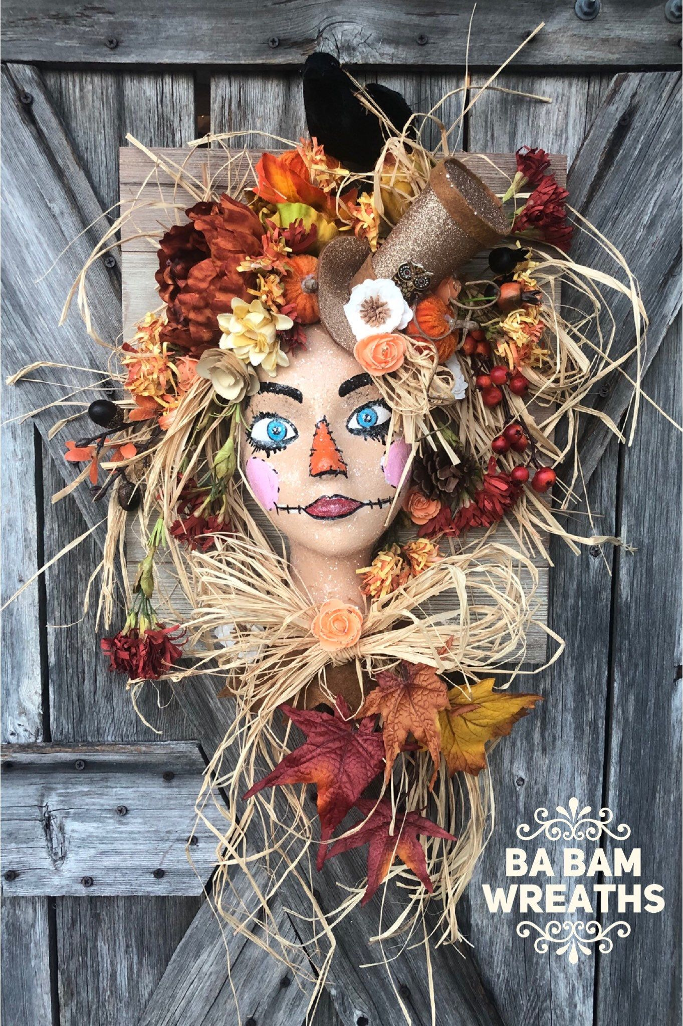 Autumn Decor, Fall Decor, Halloween Decor, Scarecrow #scarecrowwreath