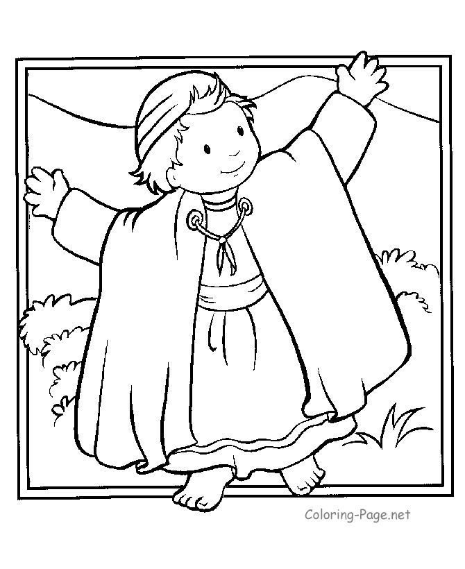 Joseph coat bible coloring pages printables free coloring for Bible coloring pages joseph