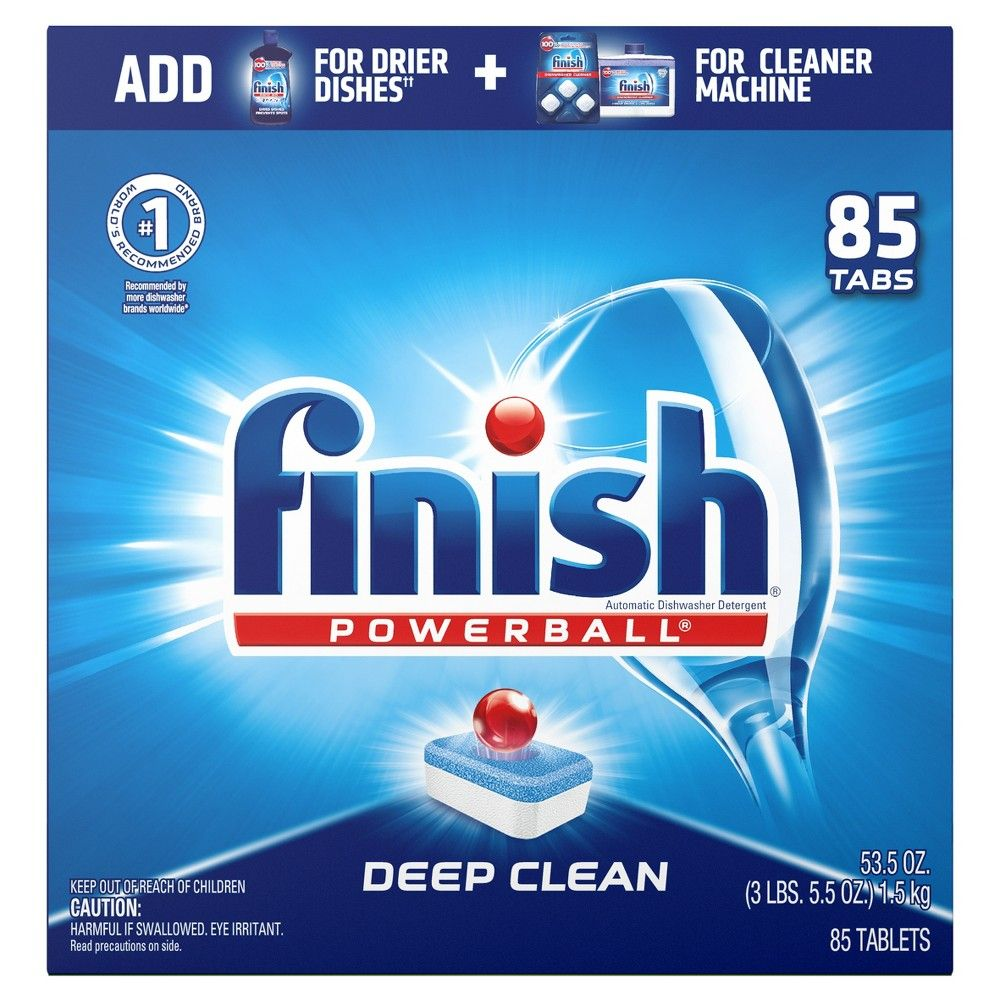 Finish Powerball All In 1 Dishwasher Detergent Tabs 85ct In 2020