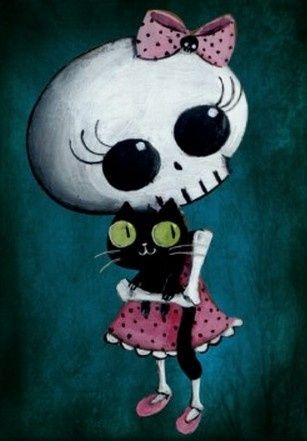 Cute skeleton cartoon - Skullspiration.com - skull designs ...