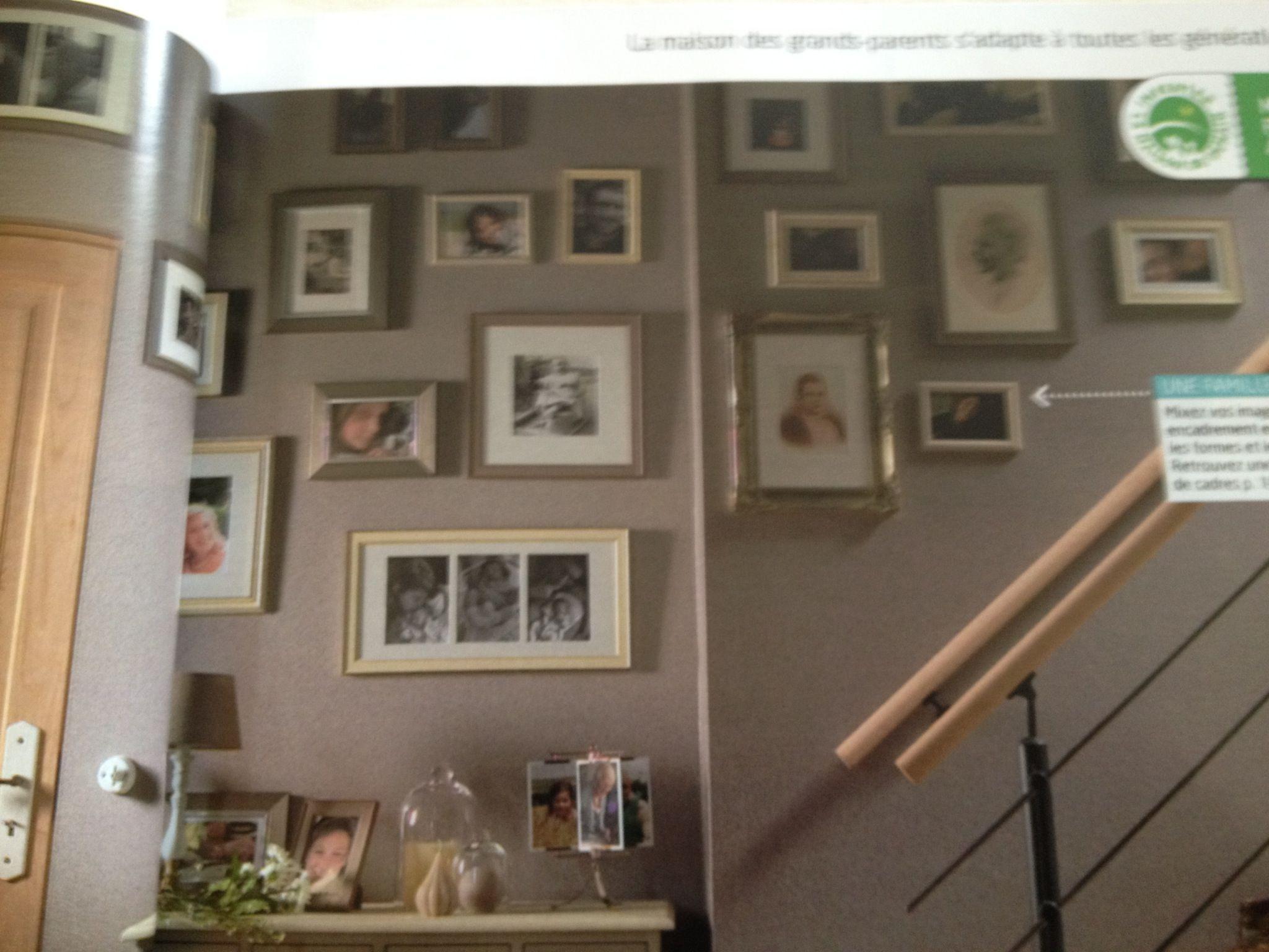 Porte Cuisine Montée Sur Cadre une montée d'escalier pleine de souvenirs et de cadres