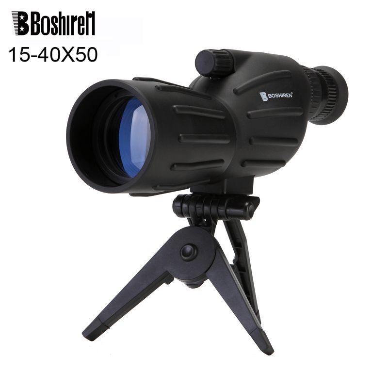 Boshiren 15 40x50 Zoom Hd Monocular Bird Watching Telescope Binoculars With Portable Tripod Spotting Scope With Fmc Blue Coa Zoom Hd Spotting Scopes Binoculars