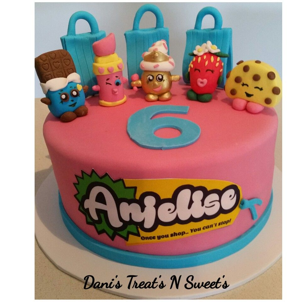 shopkins cake with personalised shopkins name tag kids cakes