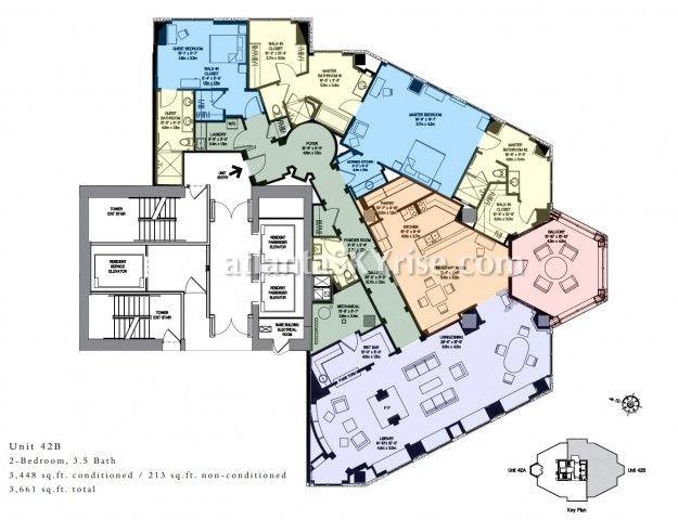 Mandarin Oriental Atlanta Residence 42b Floor Plan Luxury Condo Floor Plans Model Homes
