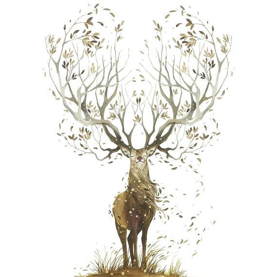 elk deer stickers animal Decals home wallpaper