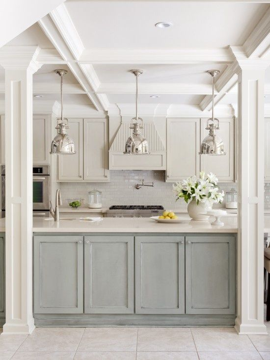 Industrial Lights Above Kitchen Island Idea For Opening Up To New Addition  To Help Expand Kitchen