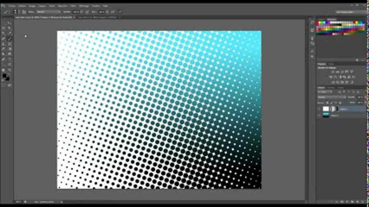 Faire un effet de trame avec Photoshop Cs6