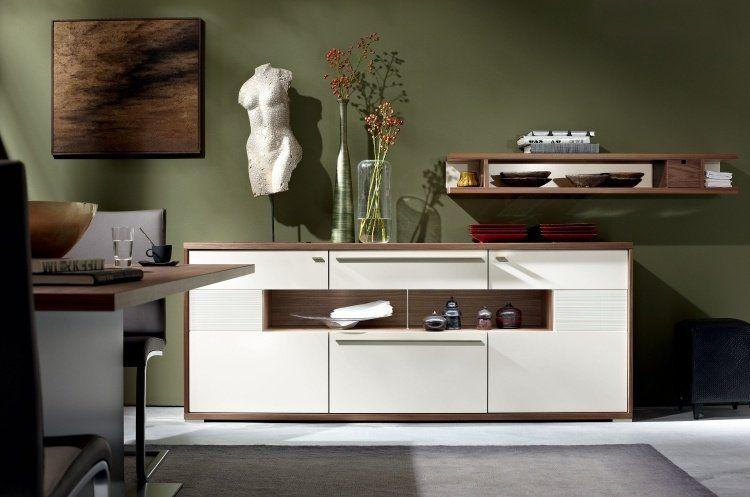 Meuble salon design par Hülsta- style moderne et chaleureux - peindre un meuble laque blanc