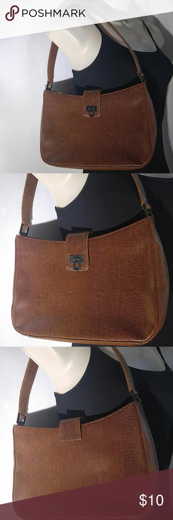 Women's Shoulder Bag Purse Ann Taylor Faux Snake Skin Leather Purse Shoulder Bag Handbag Ann Taylor Bags Shoulder Bags