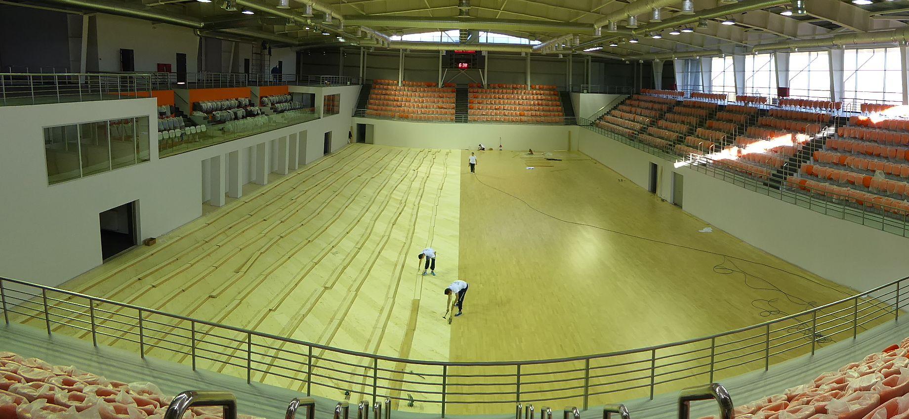 L'installazione del parquet sportivo in Moldavia ha impegnato lo staff di Dalla Riva Sportfloors per cinque giorni