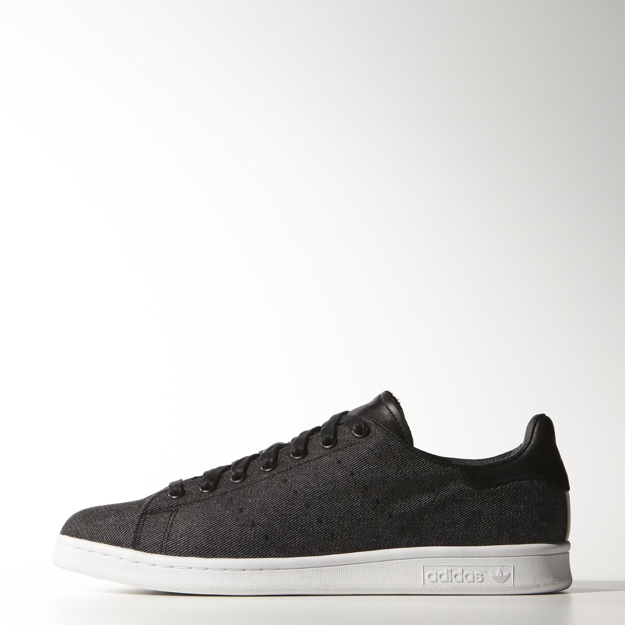 adidas stan smith (m17150) tag: basso sopra le scarpe da ginnastica, nero, jeans