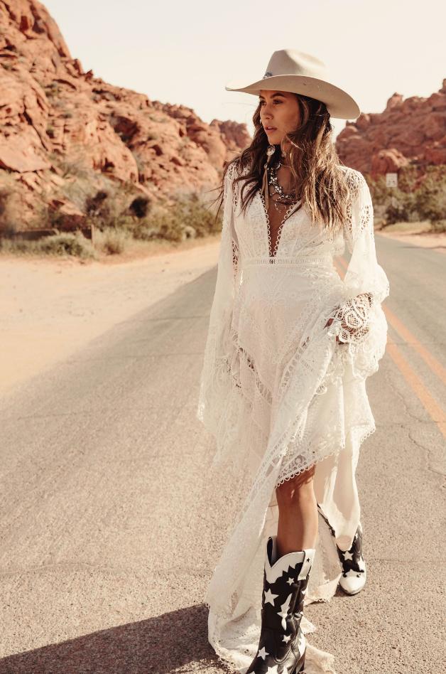Rue De Seine Harvest Moon Wedding Gown Western Wedding Dresses Western Fashion Boho Wedding