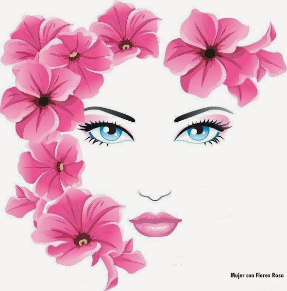 Chica Con Flores Art Painting Pop Art Art Drawings