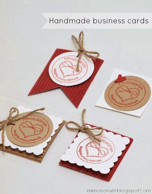 Cómo hacer Tarjetas de visita handmade, en casa, fáciles, creativas - tarjetas creativas