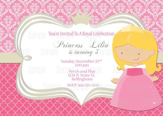 Printable Sleeping Beauty Princess Aurora Birthday Party – Sleeping Beauty Party Invitations