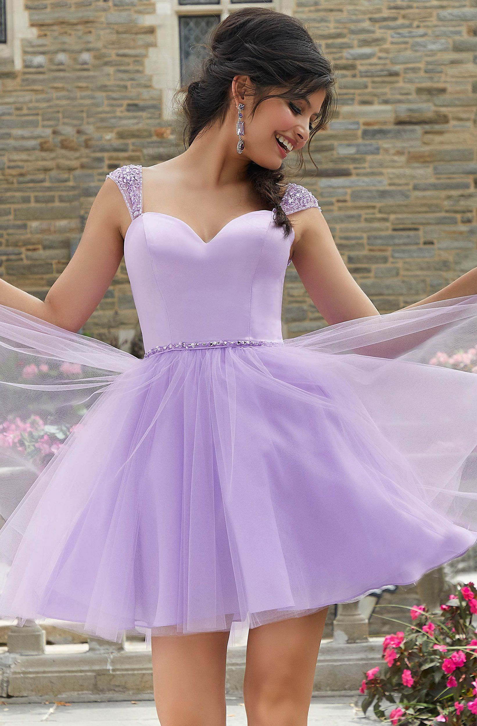 Mori Lee 9541 Beaded Satin And Tulle Sweetheart Neck Party Dress Dama Dresses Dressy Dresses Quinceanera Dama Dresses [ 2500 x 1642 Pixel ]