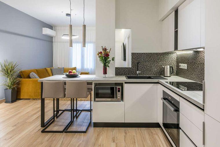 Cocinas Modernas 2019 Conoce Las Nuevas Tendencias Para El Diseno De La Cocina Apartamentos Modernos Diseno Cocinas Modernas Cocina Tipo Loft