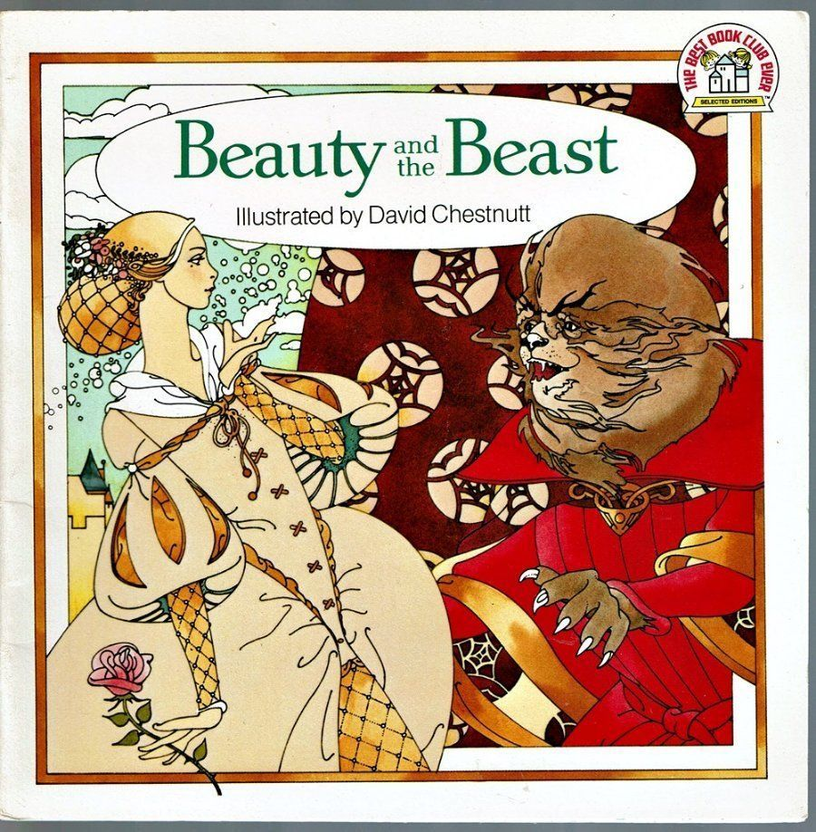 Vintage Pictureback Book BEAUTY AND THE BEAST David