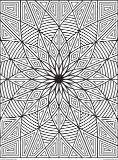 Difficult Geometric Design Coloring Pages Rectangles Page 1 Of 2 Geometric Coloring Pages Pattern Coloring Pages Coloring Books