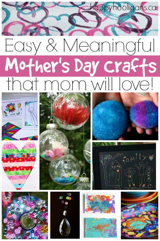 Mothers Day Cards Ideas For Children To Make Part - 38: More Easy Motheru0027s Day Crafts For Kids To Make