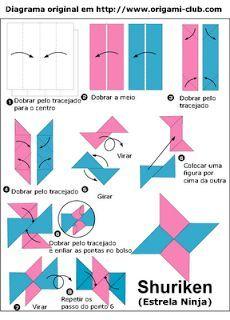 Como Fazer Uma Shuriken De Papel Ninja Star Origami Kids Origami Origami Easy
