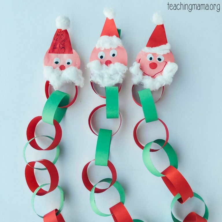Photo of Santa Christmas Countdown Chain