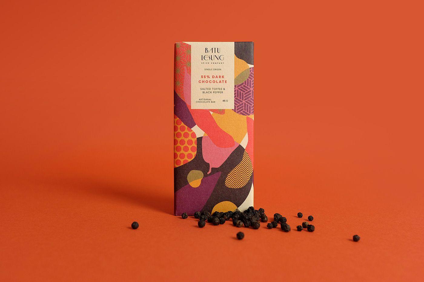 Chocolate Bar Packaging Design For Batu Lesung Spice Company World Brand Design Chocolate Bar Design Spice Company Chocolate Crafts
