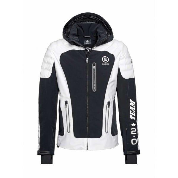 BOGNER Men Designer Ski Wear   Black White - Team-T Mens Ski Jacket ... b26d23b86f
