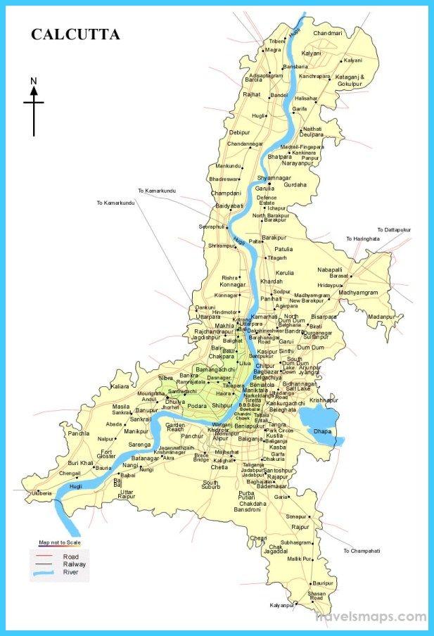 Map Of Kolkata