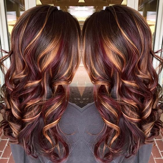 20 Best Red Ombre Hair Ideas 2021 Cool Shades Highlights Hairstyles Weekly Long Brunette Hair Hair Styles Hair Color Burgundy
