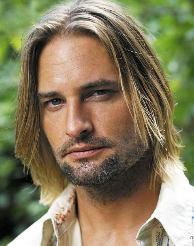 Hairstyles for men with long straight hair mens long