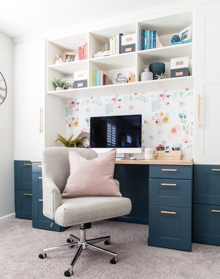 Modern and Bright Creative Home Office Reveal {One Room