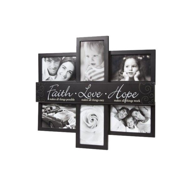 cd7796690236 6 Picture Opening Collage Frame - Black   Target
