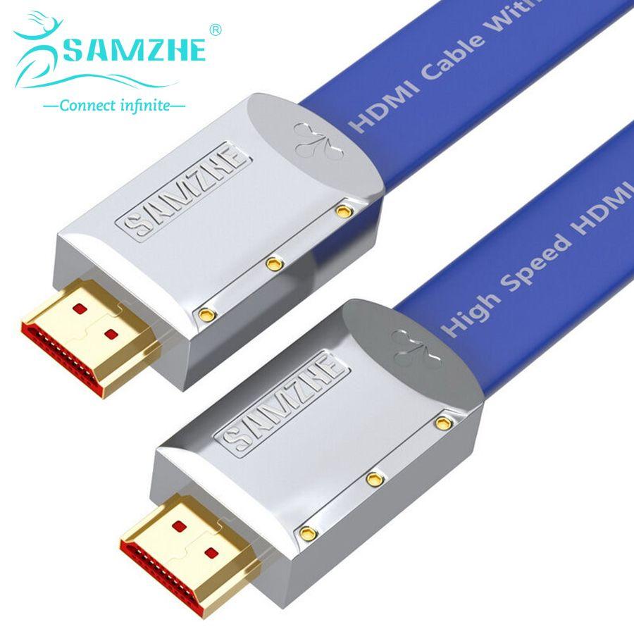 Samzhe 3d 2 karat * 4 karat hdmi2.0 kabel flache hdmi2.0 kabel ...