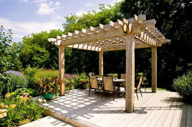 Pergola en bois pour la terrasse en 22 exemples superbes! Jardin